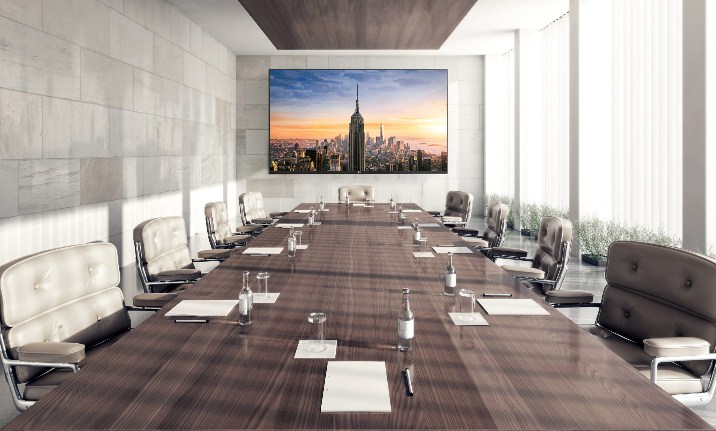 Conference room with LED screens