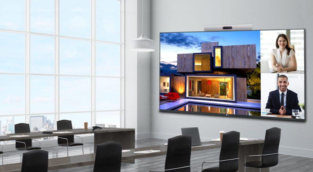 digital signage screen in meeting room